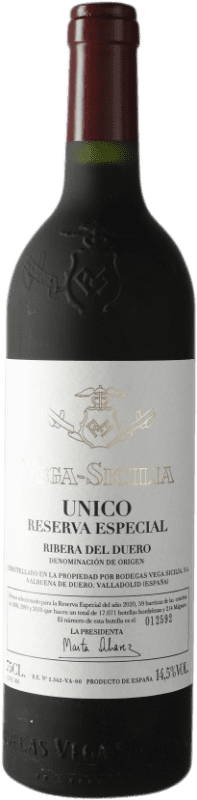 436,95 € Free Shipping | Red wine Vega Sicilia Único Especial Reserva 2010 D.O. Ribera del Duero Castilla y León Spain Tempranillo, Cabernet Sauvignon Bottle 75 cl