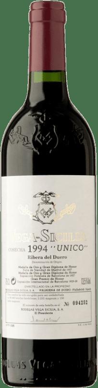 572,95 € Envoi gratuit | Vin rouge Vega Sicilia Único Gran Reserva 1994 D.O. Ribera del Duero Castille et Leon Espagne Tempranillo, Merlot, Cabernet Sauvignon Bouteille 75 cl