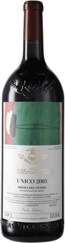 805,95 € Envoi gratuit | Vin rouge Vega Sicilia Único Gran Reserva 2005 D.O. Ribera del Duero Castille et Leon Espagne Tempranillo, Cabernet Sauvignon Bouteille Magnum 1,5 L
