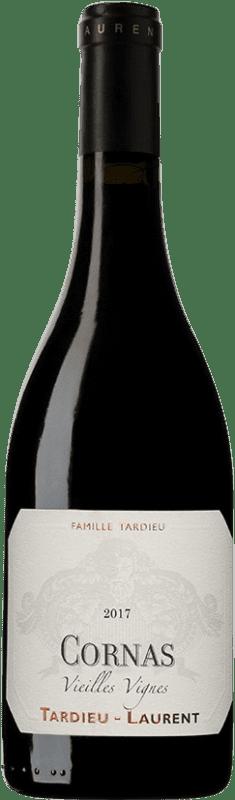 64,95 € Envío gratis | Vino tinto Tardieu-Laurent Vielles Vignes A.O.C. Cornas Francia Syrah, Serine Botella 75 cl