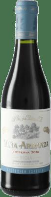 12,95 € Envío gratis | Vino tinto Rioja Alta Viña Ardanza Reserva D.O.Ca. Rioja España Tempranillo, Garnacha Media Botella 37 cl