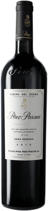291,95 € Envío gratis | Vino tinto Pérez Pascuas Viña Pedrosa Gran Selección D.O. Ribera del Duero Castilla y León España Tempranillo Botella 75 cl