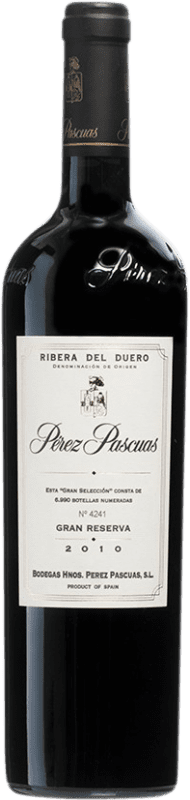197,95 € Envío gratis | Vino tinto Pérez Pascuas Viña Pedrosa Gran Selección 2010 D.O. Ribera del Duero Castilla y León España Tempranillo Botella 75 cl