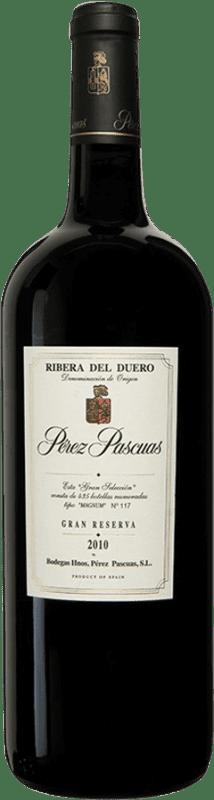564,95 € Envío gratis | Vino tinto Pérez Pascuas Viña Pedrosa Gran Selección 2010 D.O. Ribera del Duero Castilla y León España Tempranillo Botella Mágnum 1,5 L
