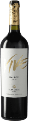 9,95 € Kostenloser Versand | Rotwein Altavista Vive I.G. Mendoza Mendoza Argentinien Malbec Flasche 75 cl