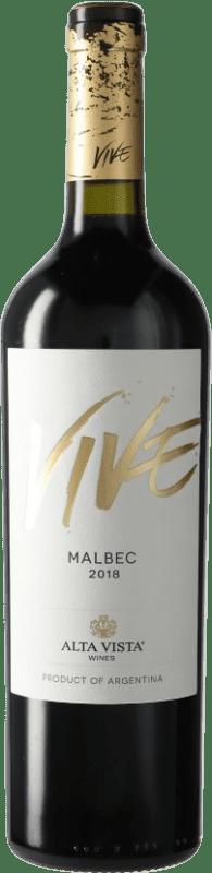 9,95 € Envío gratis | Vino tinto Altavista Vive I.G. Mendoza Mendoza Argentina Malbec Botella 75 cl